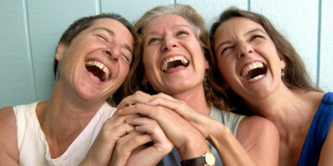 mothers laughing